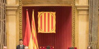 Moment de la intervenció de Quim Torra en el segon debat d'investidura | Parlament de Catalunya (Miquel González de la Fuente)
