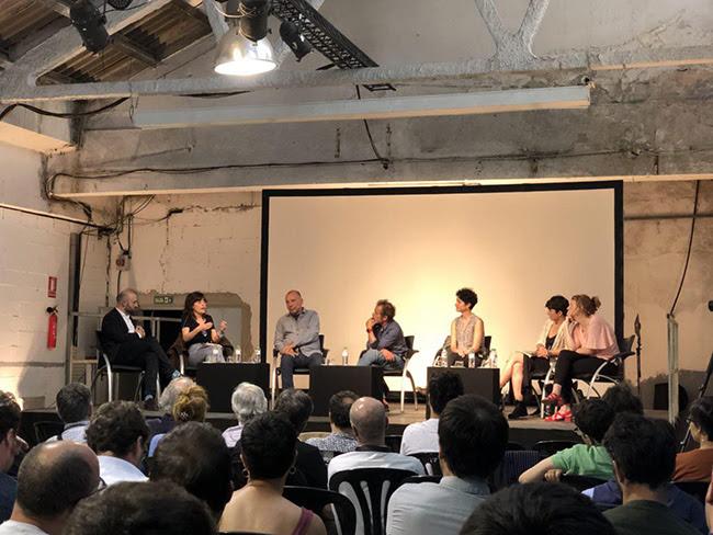 Moment del debat sobre cultura a la Nau Bostik | Primàries Barcelona