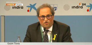 El President Torra en la seva intervenció en la XXXIV Reunió Cercle d'Economia a Sitges