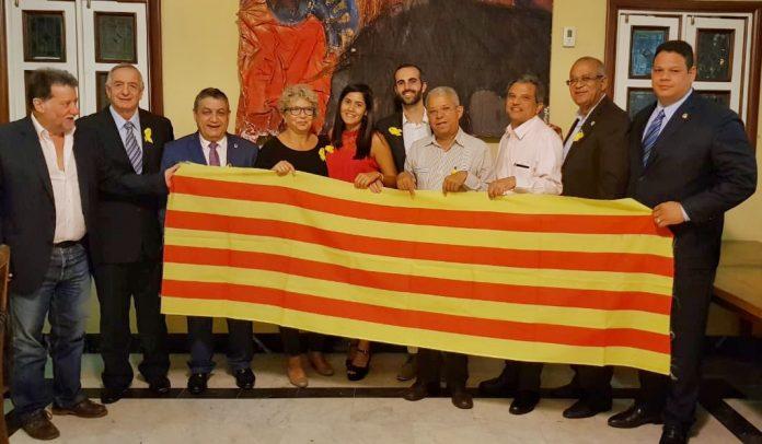 El 'Grupo de Legisladores Dominicanos Amigos de Cataluña' en la seva presentació en públic | Font: Centre Català de la República Dominicana
