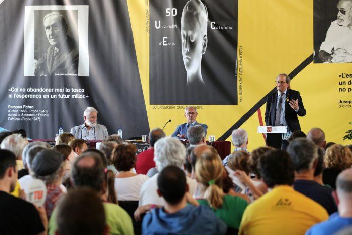 Quim Torra en el seu parlament de cloenda de la Universitat d'Estiu Catalana (UCE) | Govern de Catalunya