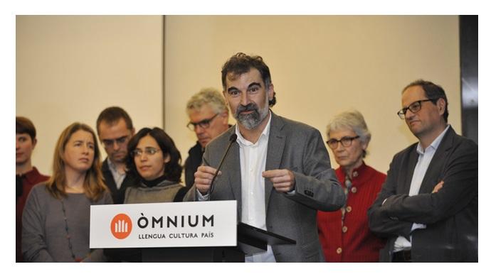 Jordi Cuixart en un acte d'Òmnium Cultural