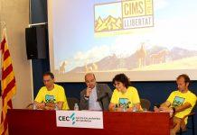 Fina Lladó en la presentació de Cims per la Llibertat el dia 4 d'octubre a la seu del Centre Excursionista de Catalunya