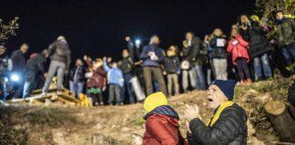 Moment de la concentració de Cap d'Any a Lledoners. Font: Regió 7