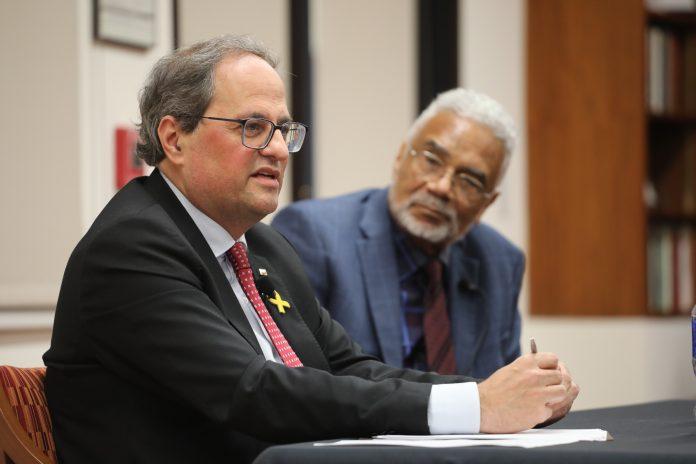 El President amb el professor Carson. Autor: Ruben Moreno