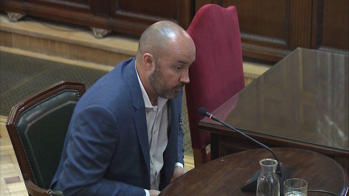 Albert Salvadó durant la seva declaració al judici