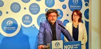 Toni Castellà durant la roda de premsa | Demòcrates de Catalunya
