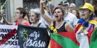 Moment de la manifestació a Barcelona. Imatge d'en Joan M. Labrador