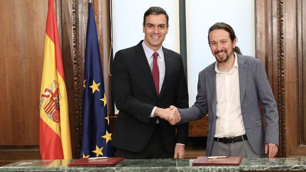 Signatura de l'acord de govern entre Pedro Sánchez i Pablo Iglesias | PSOE
