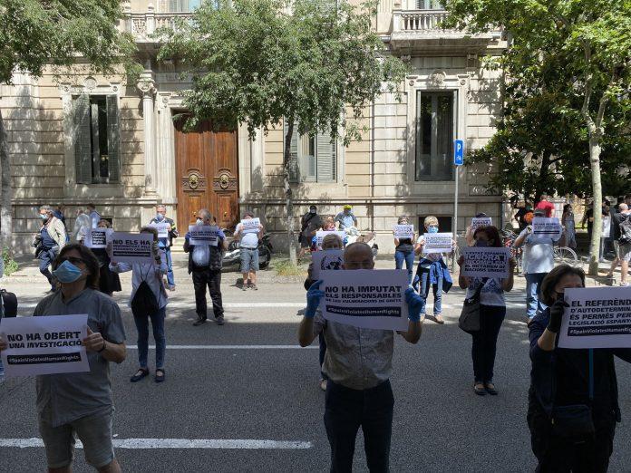 Concentració de protesta davant la delegació del Govern espanyol | ANC